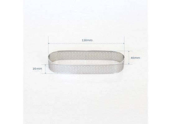 Loyal Bakeware - 130mm PERFORATED RING S/S