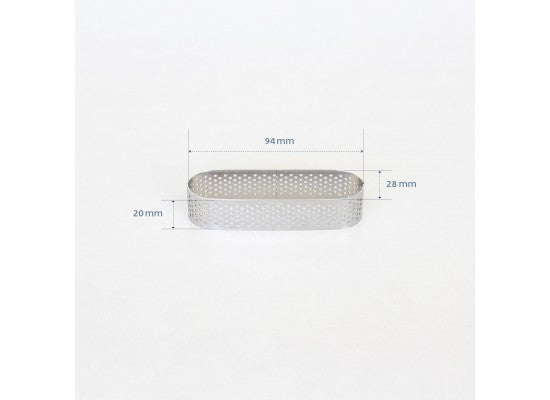 Loyal Bakeware - 94mm PERFORATED RING S/S