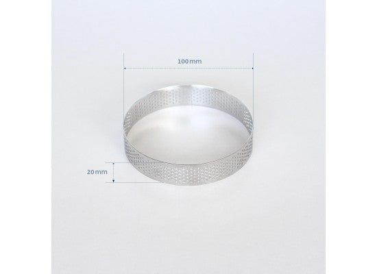 Loyal Bakeware - 100mm PERFORATED RING S/S
