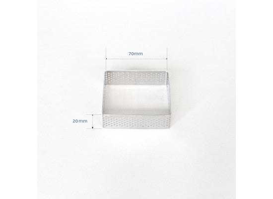 Loyal Bakeware - 70mm PERFORATED RING S/S