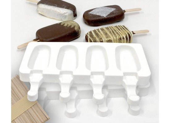 POPSICLE SILICONE 2 MOULDS + 50 Sticks