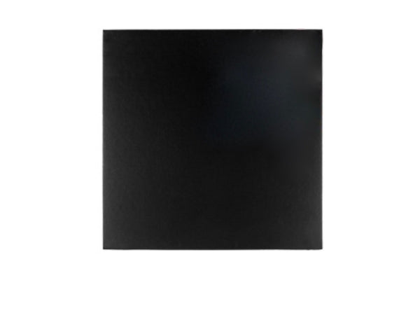 CAKE BOARD | BLACK | 12 INCH | SQUARE | MDF | 5MM THICK