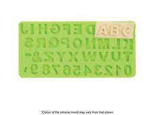 ALPHABET & NUMBERS SET SILICONE MOULD