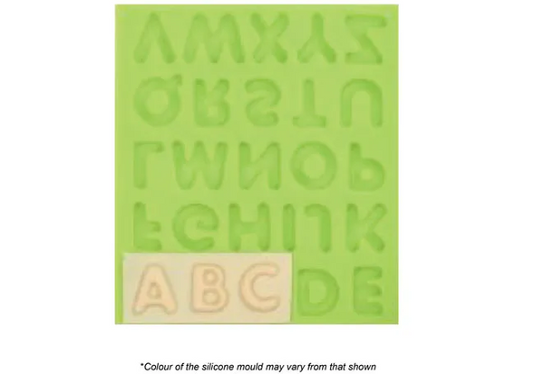 BUBBLE ALPHABET SILICONE MOULD