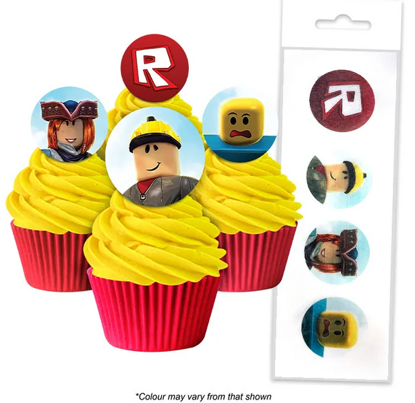 ROBLOX | EDIBLE WAFER CUPCAKE TOPPERS | 16 PIECE PACK
