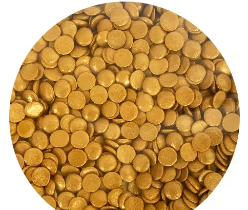 Sprink'd Gold Shiny Sequins - 7mm - 60g