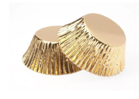 Foil Cupcake Cups Gold x 25 Pack
