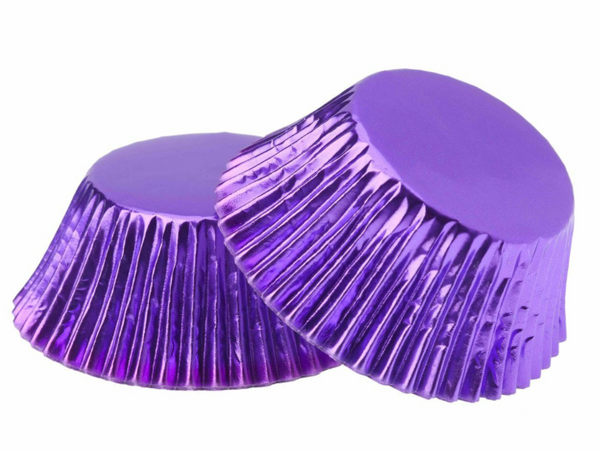 Foil Cupcake Cups Purple x 25 Pack