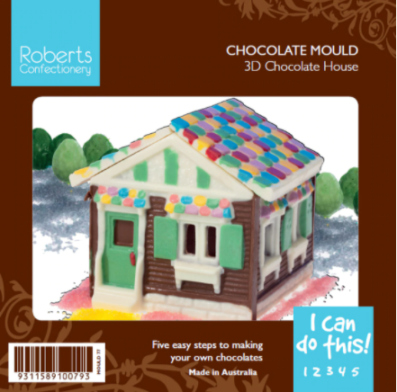 Robert's Confectionary - 3D Chocolate House Mould
