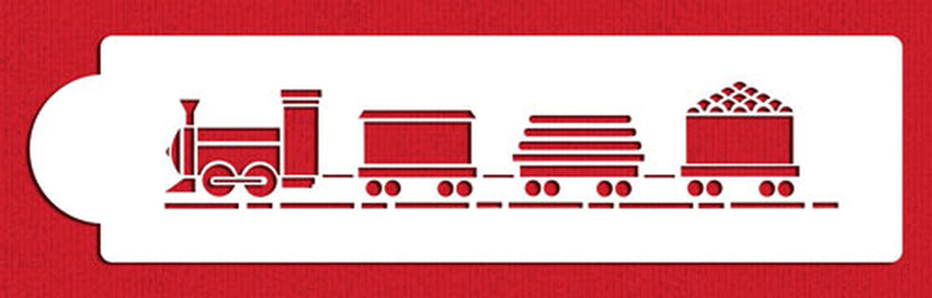 Designer Stencils- Train with Track