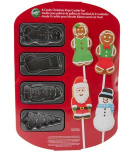 Wilton 8 Cavity Christmas Pops Cookie Pan