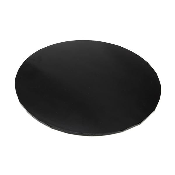 CAKE BOARD | BLACK | 8 INCH | ROUND | MDF | 5MM THICK