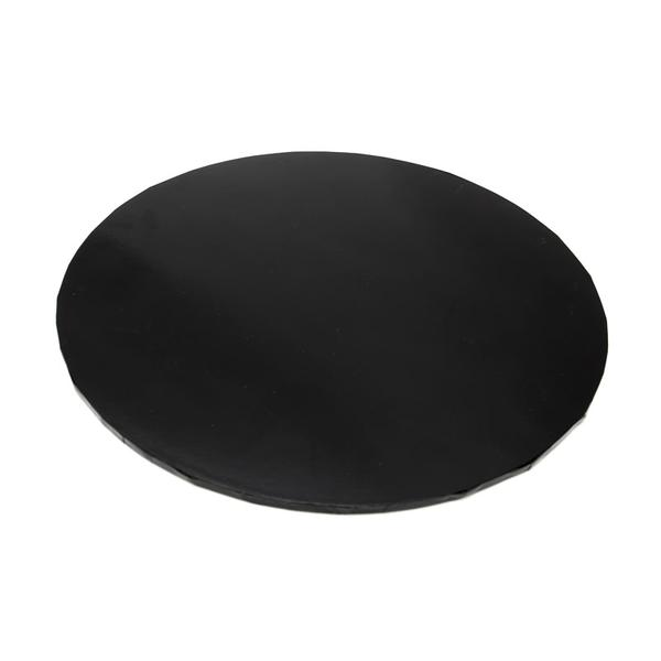 CAKE BOARD | BLACK | 12 INCH | ROUND | MDF | 5MM THICK