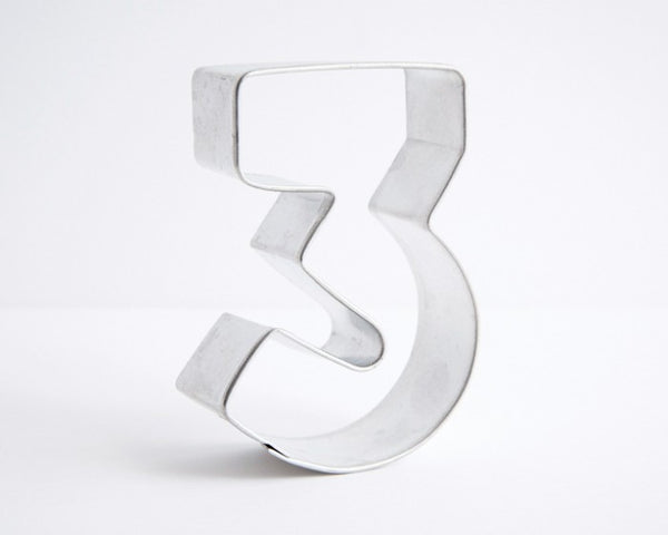 Number 3 Cookie Cutter 6cm