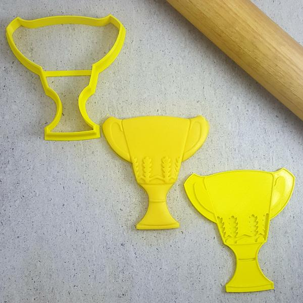 Custom Cookie Cutters - AFL Premiership Cup Embosser & Cutter