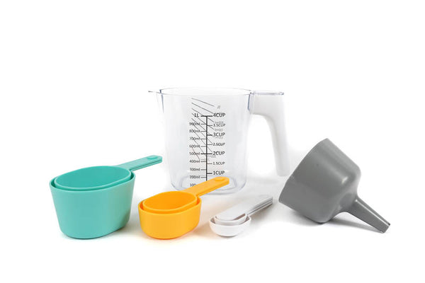 SPRINKS JUG WITH NESTING MEASURE CUPS & SPOONS