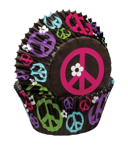 Peace Mini Baking Cups By Wilton (100 ct) - CUPCAKE CASES