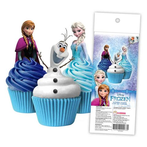 DISNEY FROZEN EDIBLE WAFER CUPCAKE TOPPERS - 16 PIECE PACK