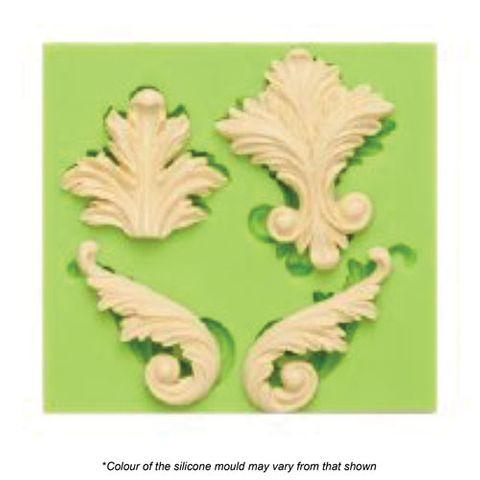 ASSORTED SCROLLS 1 SILICONE MOULD