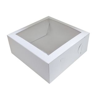 12X12X4 INCH CAKE BOX | TOP WINDOW | UNCOATED CARDBOARD (5339409350811)