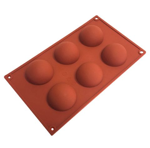 6 CUP SMALL HEMISPHERE SILICONE MOULD
