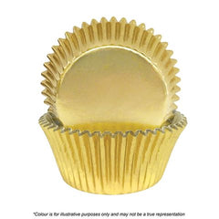 CAKE CRAFT | 408 GOLD FOIL BAKING CUPS | PACK OF 30