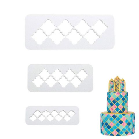 MOROCCAN PATTERN | IMPRESSION CUTTER SET | 3 PIECES