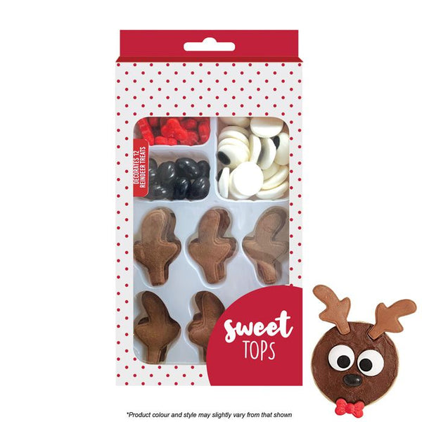 SWEET TOPS | REINDEER KIT | SUGAR DECORATIONS | 12 KITS