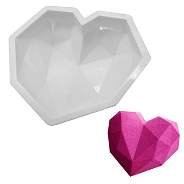 LARGE 3D GEO HEART SILICONE MOULD