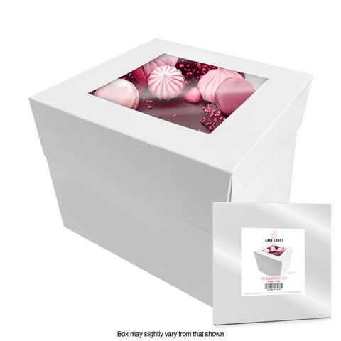 CAKE CRAFT | 8X8X10 INCH CAKE BOX | RETAIL PACK