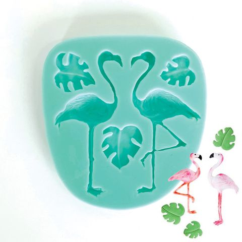 FLAMINGO & BANANA LEAF | SILICONE MOULD