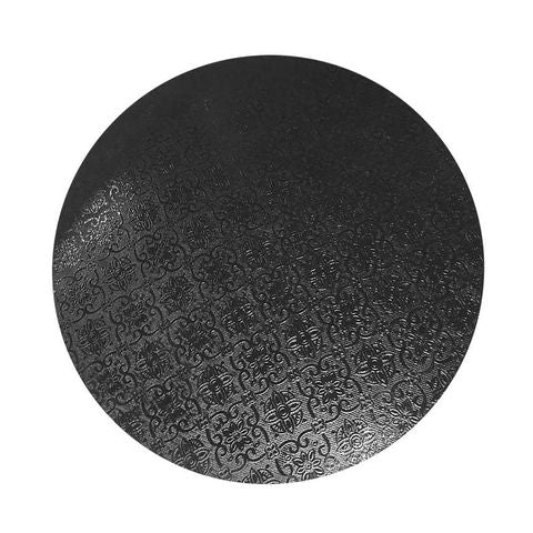 CAKE BOARD | BLACK | 7 INCH | ROUND | MDF | 5MM THICK