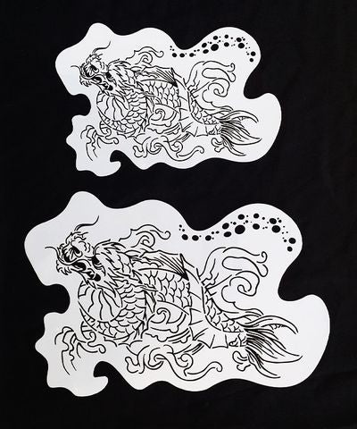 CHINESE DRAGON STENCIL - SET OF 2