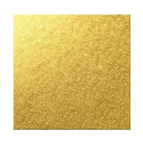 CAKE BOARD | GOLD | 9 INCH | SQUARE | MDF | 5MM THICK