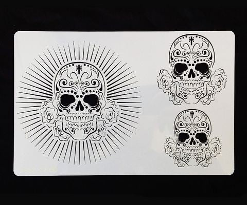 DAY OF THE DEAD 2 STENCIL