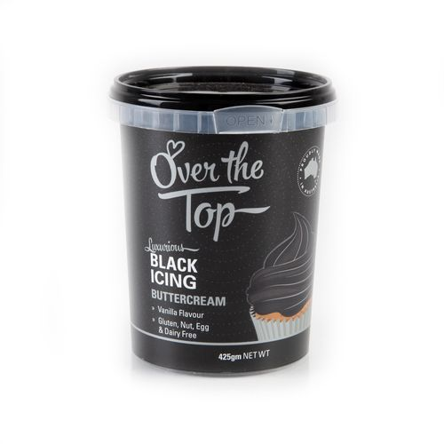 Over The Top Buttercream 425g - Black