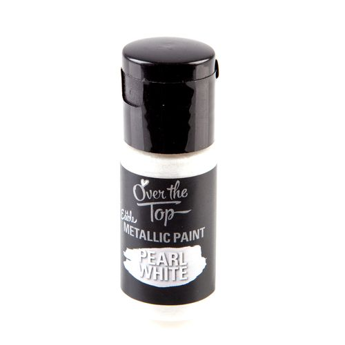 Over The Top Pearl White Edible Paint - 15mL