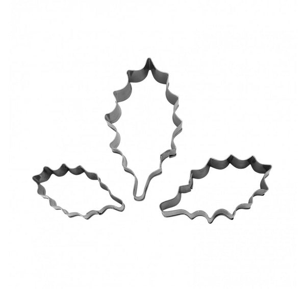 Cake Decorating Accessories - Holly Leaf - set of 4