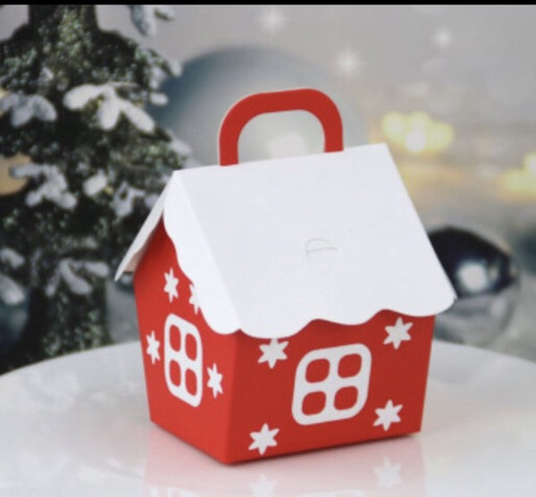 Christmas House cookie cake biscuit box
