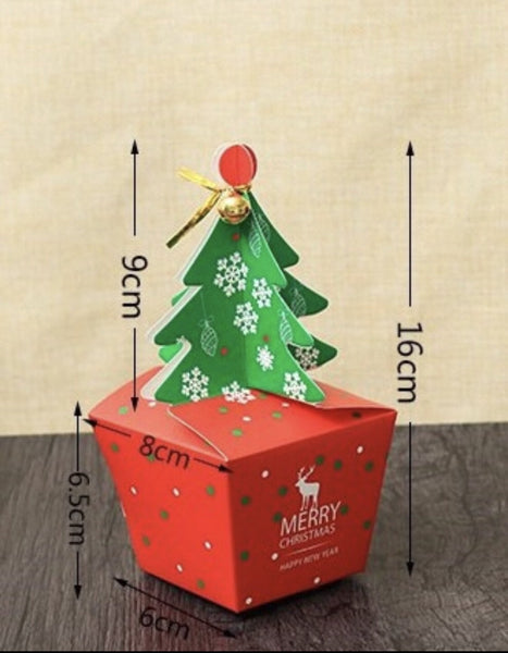 Christmas Tree Favour Gift Candy Cupcake Bags Boxes large 25 cm