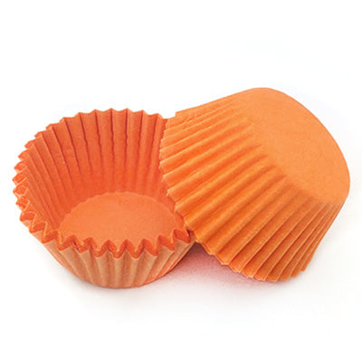 Paper Cupcake Case Orange Pkt 20