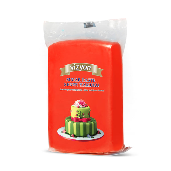 RED VIZYON ROLLED FONDANT - 1 KG