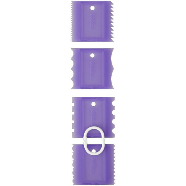 Wilton Cake Comb Set - 4pieces - Buttercream / Royal ICing Decorating