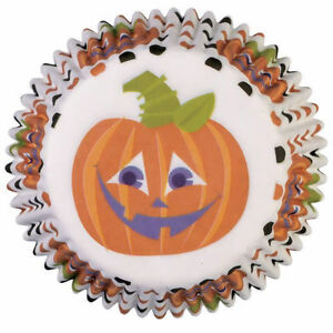 Wilton Mini Baking Cups - Friendly Jack-O-Lantern