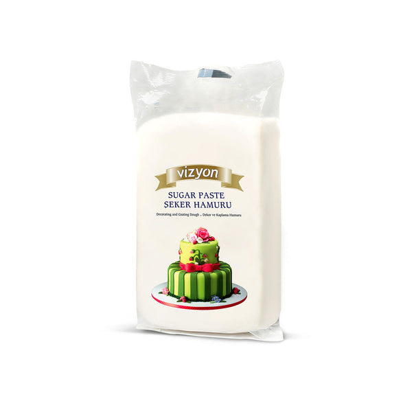 WHITE  VIZYON SUGAR PASTE - 250g