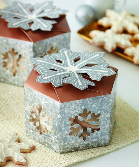 Wilton Treat Box- Silver Snowflake