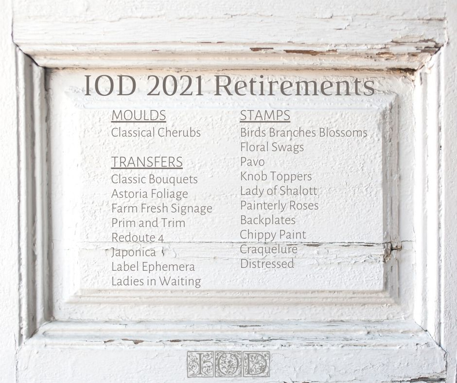IOD retiring products for 2021