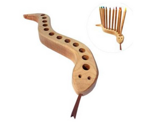 Drei Blatter Wooden Pencil Holder -Snake