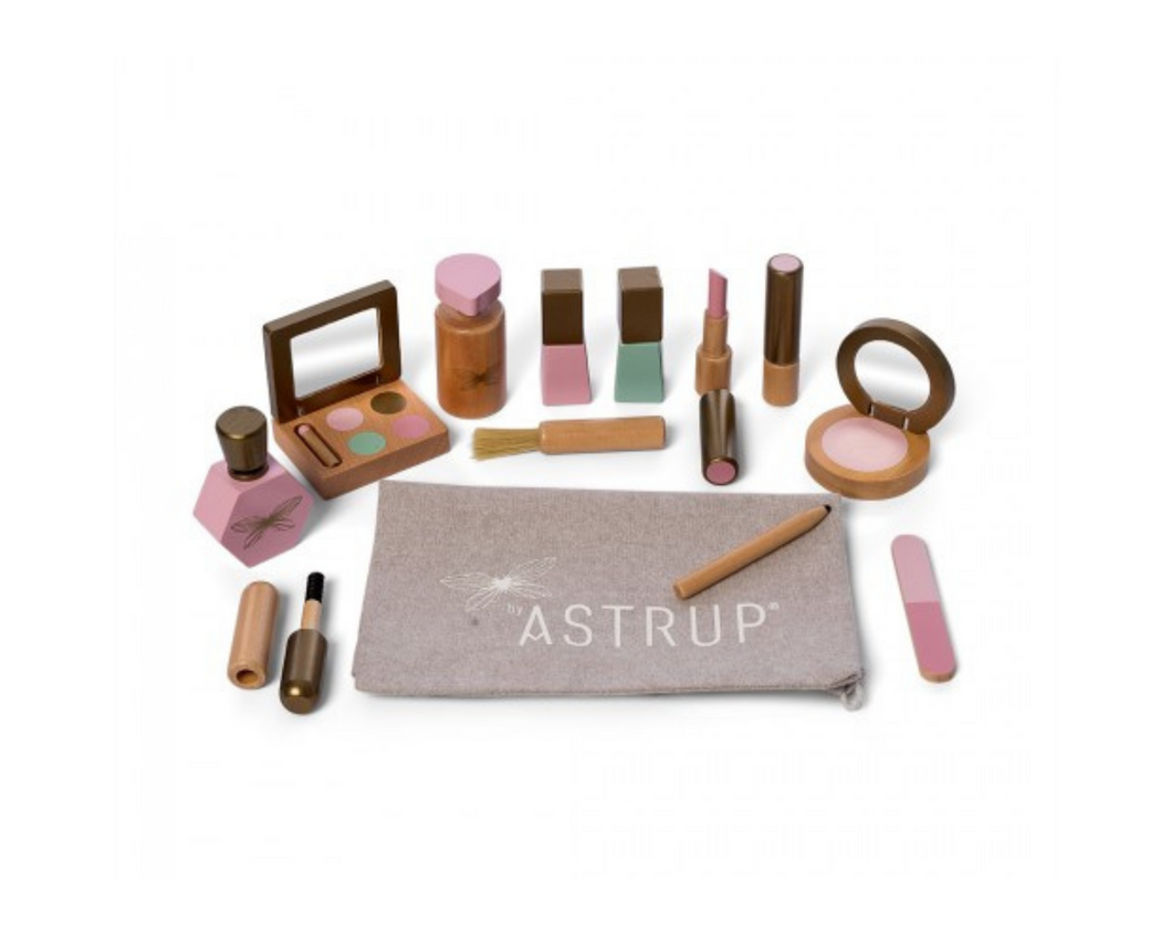Astrup Wooden Role Play Make Up Set -13 pieces