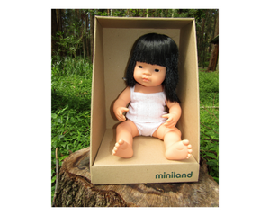 Miniland doll - Asian girl, 38cm